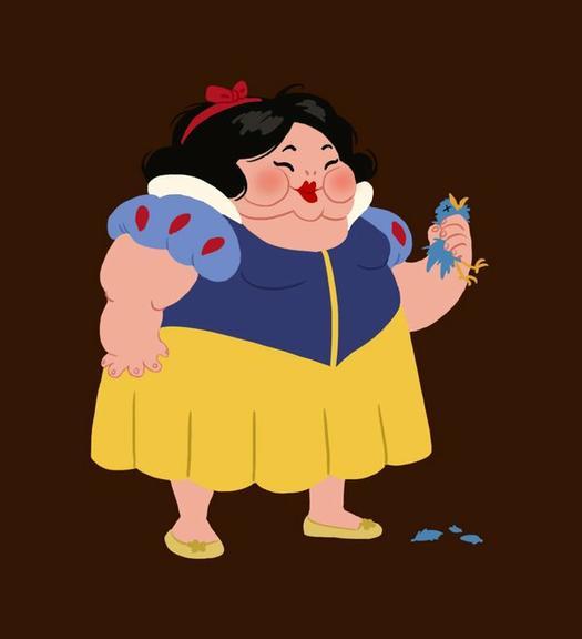 Não quero princesa da Disney: nem gorda nem magra!