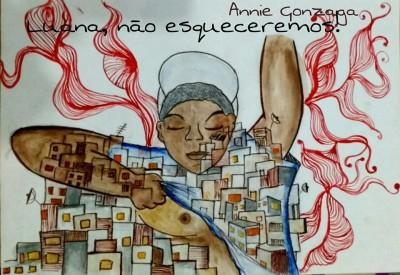 #SapatonizeAGosto: Luana, não esqueceremos!